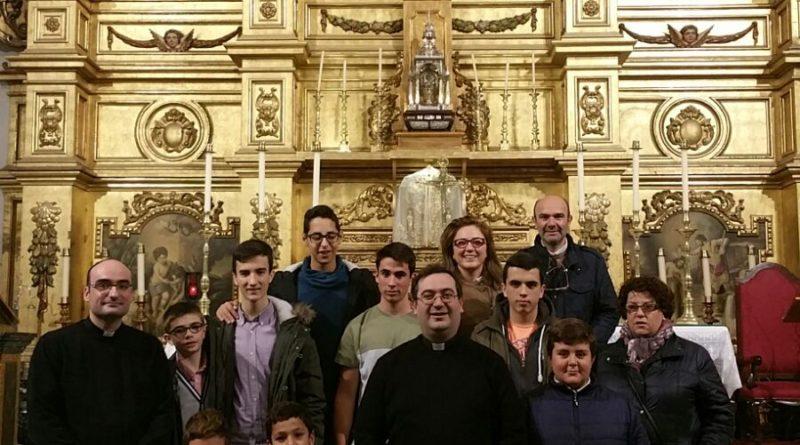 Con el párroco de Herrera del Duque y Peloche