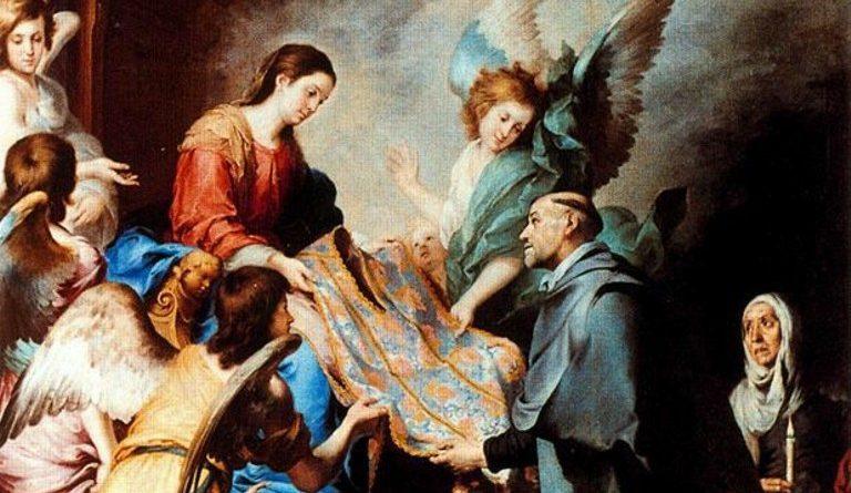 Índice de Biografías - Esteban Murillo - La descensión de la Virgen para premiar los escritos de San Ildefonso-2