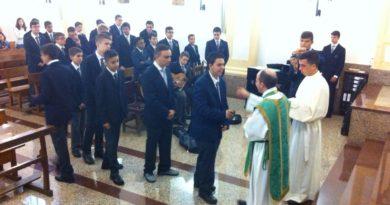 Entrega de Insignias a los nuevos seminaristas
