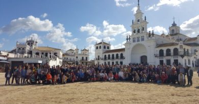 Peregrinación de las familias al Rocío